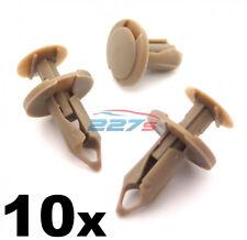 10x 8mm Lungo Beige/Marroncino Bordo clip- VW T4 & T5 Tappetino & Furgone