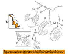 AUDI OEM 2011 A6 Quattro Brake-Rear Pads 4F0698451H