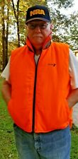 Nice Pre-Owned Reversible Hunting Vest: Woodland Camo and Safety Orange!