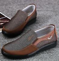 Mens Casual Cloth Antiskid breathable round toe slip on sneaker Loafers Shoes