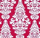Decorator~Upholstery ~ French Scroll ~ Deep Pink ~ Fabric ~ 1 yard