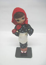 Collectable Japanese Doll – Lady in Kimono w/ Red Bandana holding an Apple
