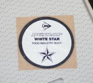 Retro Sticker -  Dunlop White Star Food Industry Boot