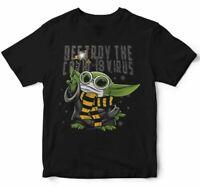 Baby yoda destroy the virus t shirt t-shirt star wars t-shirt