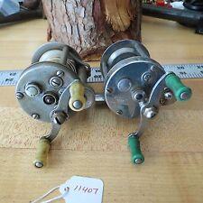Pflueger Akron fishing reel (Patent Pend.) & Nobby fishing reel (parts) (L#11407