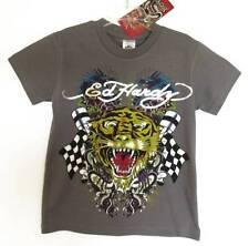 Ed Hardy Boys Gray Short-sleeved Tiger/Dragon Print T-Shirt (3/4) NWT