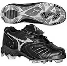 4af3c0457 New Mizuno Youth 9 Spike Franchise G3 Low Cleat Style FB67LBK Black Size   4.0