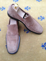 Gucci Mens Beige Suede Loafers Shoes UK 7.5 US 8.5 EU 41.5 Made in Italy