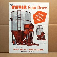 1960s Meyer Grain Dryers Sales Brochure Morton Illinois Farming Equipment