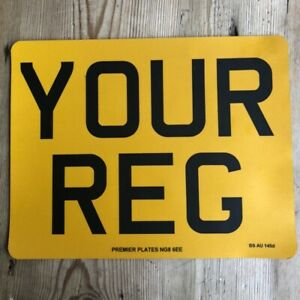 "Standard Motorbike Number Plate - 9x7"" Road Legal"