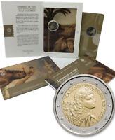 San Marino 🇸🇲 Coincard 2€ Euro 2019 FDC Folder Leonardo Da Vinci 500y Death