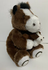 """Creature Comforts Horse Plush 9 """" Sitting Horse Colt Brown Stuffed Animal Toy"""