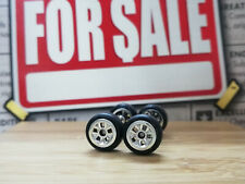 Hot Wheels 1/64 Rubber Wheels Tires Real Riders > FLW > Chrome > 10mm