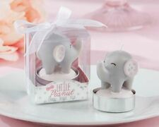 Girl Baby Shower Favors Little Peanut Elephant-Shaped Candles Set of 4