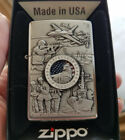 Zippo 24457 Defenders Freedom Joined Forces Emblem Chrome NEW Windproof Lighter