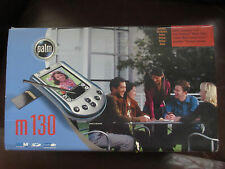 Palm M130 Handheld Pda Nib w/Leather Case, Charger Cradle/adapter/Dict Thesaurus