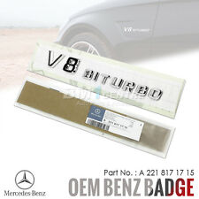 GENUINE OEM MERCEDES BENZ V8 BITURBO CHROME SIDE FENDER REAR EMBLEM BADGE AMG
