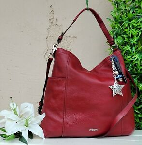 Coach Park Hobo Leather Shoulder 31323 purse satchel crossbody tote crimson red