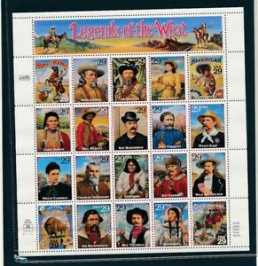 D125822 Legends of the West MNH Sheetlet USA Facevalue $5.80