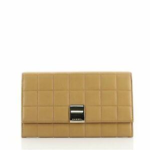 Chanel Chocolate Bar Wallet Lambskin Long