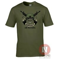 Airsoft or nothing T-shirt airsoft team military sport teeshirt tee