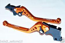 Orange Black Long 6 Position Adjustable Brake Clutch Levers KTM Duke/RC 200/390