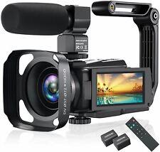 4K Video Camera Camcorder, Vlogging Camera 48MP 60FPS YouTube Camera WiFi Night