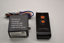 12V DC MOMENTARY wireless key fob long range remote control relay switch RM11P