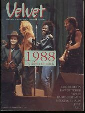 VELVET N°5 FEBB 1989 ANNO II ERIC BURDON VIPERS XTC JAZZ BUTCHER ROCKIN CHAIRS