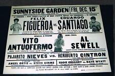 RARE 1972 Vito Antuofermo Sewell Nieves Cintron Ortiz Simms Wyatt boxing poster