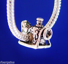 Sewing Machine Sew Quilt Seamstress Silver European Charm Bead fit for bracelet