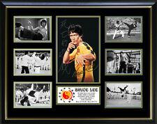 Bruce Lee Signed Framed Memorabilia