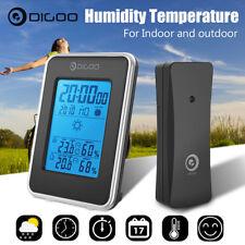 Digoo LCD Sans Fil Réveil Station Météo Température Humidité Alarme IN&Extérieur