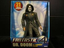 "FANTASTIC 4 DR. DOOM 12"" POSEABLE FIGURE (21 POINTS OF ARTICULATION) TOY BIZ"