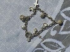 Vintage  silver charm bracelet charms