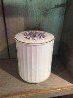 "Vintage Coalport Fine Bone China  5.5"" Storage / Utensil Jar ~ Floral"