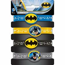 Batman Silicone Wristband Party Bag Fillers, Pack of 4   NEW