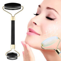 1-3X Black Jade Face Massage Roller Gua Sha Facial Beauty Eye Neck Massager Tool