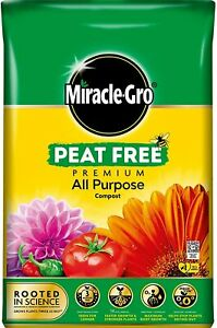 Miracle Gro All Purpose Enriched Compost Soil Potted Plant Peat Free 20L - 80L
