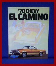 1978 Chevrolet EL CAMINO Pickup Truck Sales Brochure - Original New Old Stock