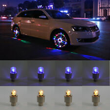 8pcs Colorful LED Auto Car Wheel Tyre Tire Valve Stem Cap Light Lamp Bulb