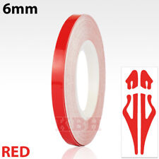 """6mm x 9.8m Self Adhesive Solid Pin Stripe Tape Vinyl Decal Sticker Car 1/4"""" Red"""