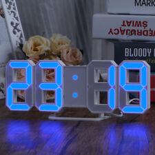 Large Modern Design Digital Led Skeleton Wall Clock Timer 3 Levels Brightness US
