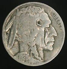 1928-P Buffalo Nickel Reverse Cud Variety Error Nice Example- Scratched GC555