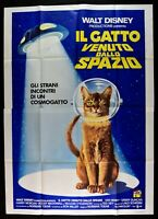 Manifesto El Gatto Vienen Deseño Spazio Cat From Outer Space Walt Disney M281