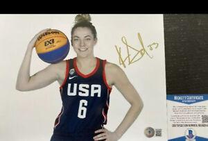 Katie Lou Samuelson Signed 8x10 Photo USA Seattle Storm Autograph BAS COA