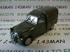 Voiture 1/43 norev citroën : 2 CV  fourgonnette AZU grise chassis plastique