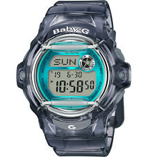 Casio Women's Baby-G Semi Transparent Gray With Teal Accent BG169R-8B