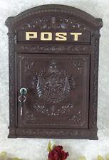Nostalgie Wandbriefkasten Aluminium Briefkasten Post Antik Postkasten 45 cm Neu
