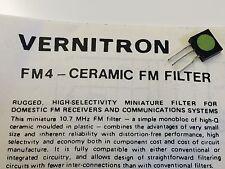 VERNITRON FM4 VINTAGE 10.7Mhz CERAMIC FILTER & DATA (x1)   blb114